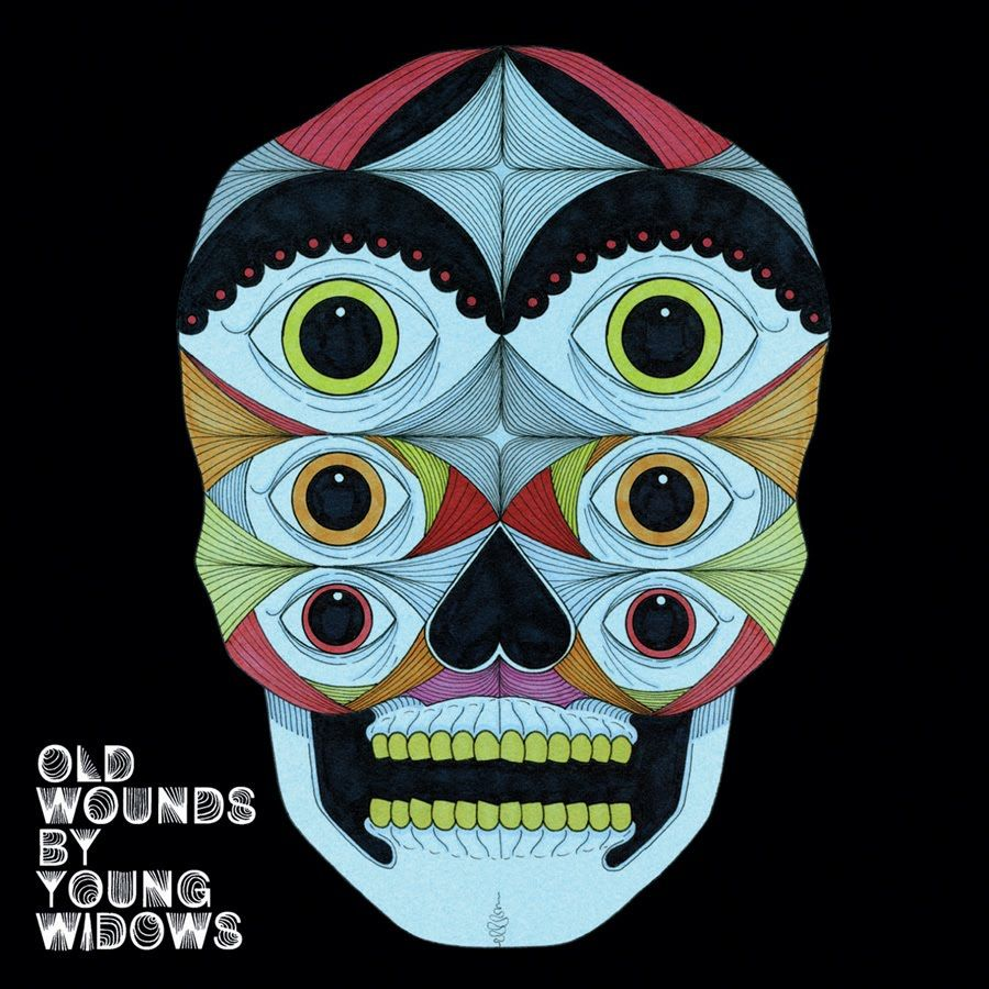 """Old wounds"", post hc by Young Widows. Really cool cover, I think there are some different version of the ""face"" on the LP sleeve"