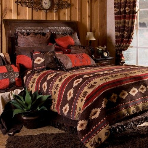 Beau Cabin Bedding   Rustic Bedding   Lodge Quilt Sets   Ranch Style Decor