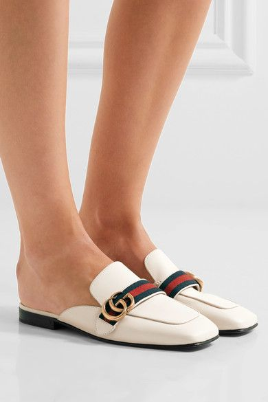 a8d8a9804d02 Gucci - Leather Slippers - White - IT