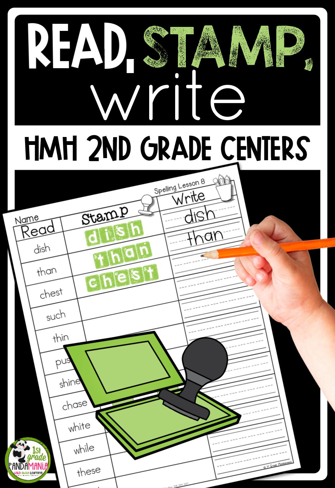 Journeys 2nd Grade Read Stamp Write Spelling Centers
