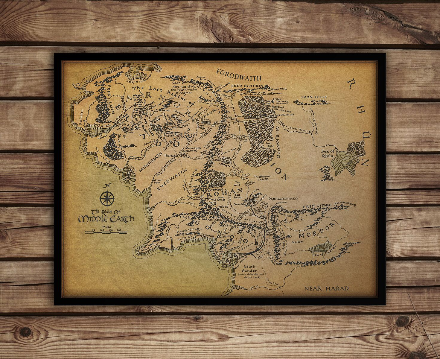 map of middle earth lord of the rings map middle earth map lord of the rings poster large map 30 x 40fan art lotr free shipping by primeprint on