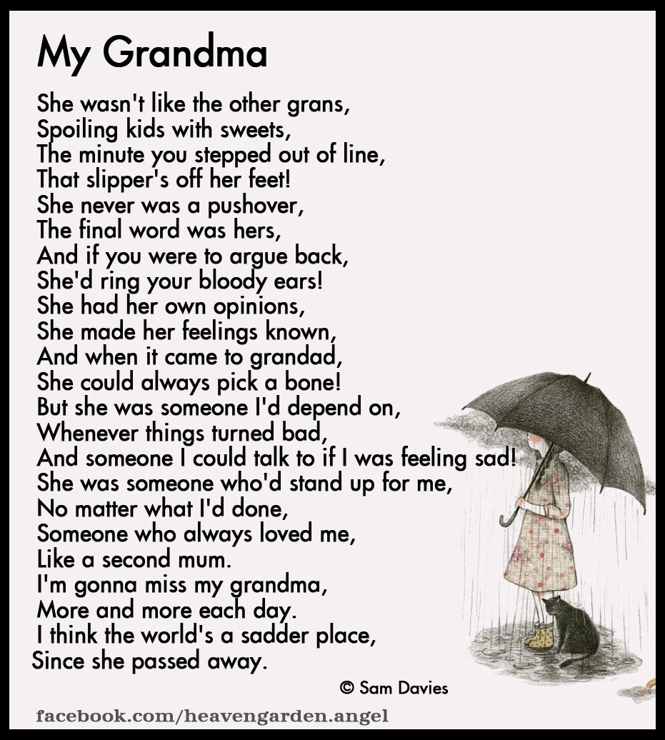 Poems About Remembering Grandma