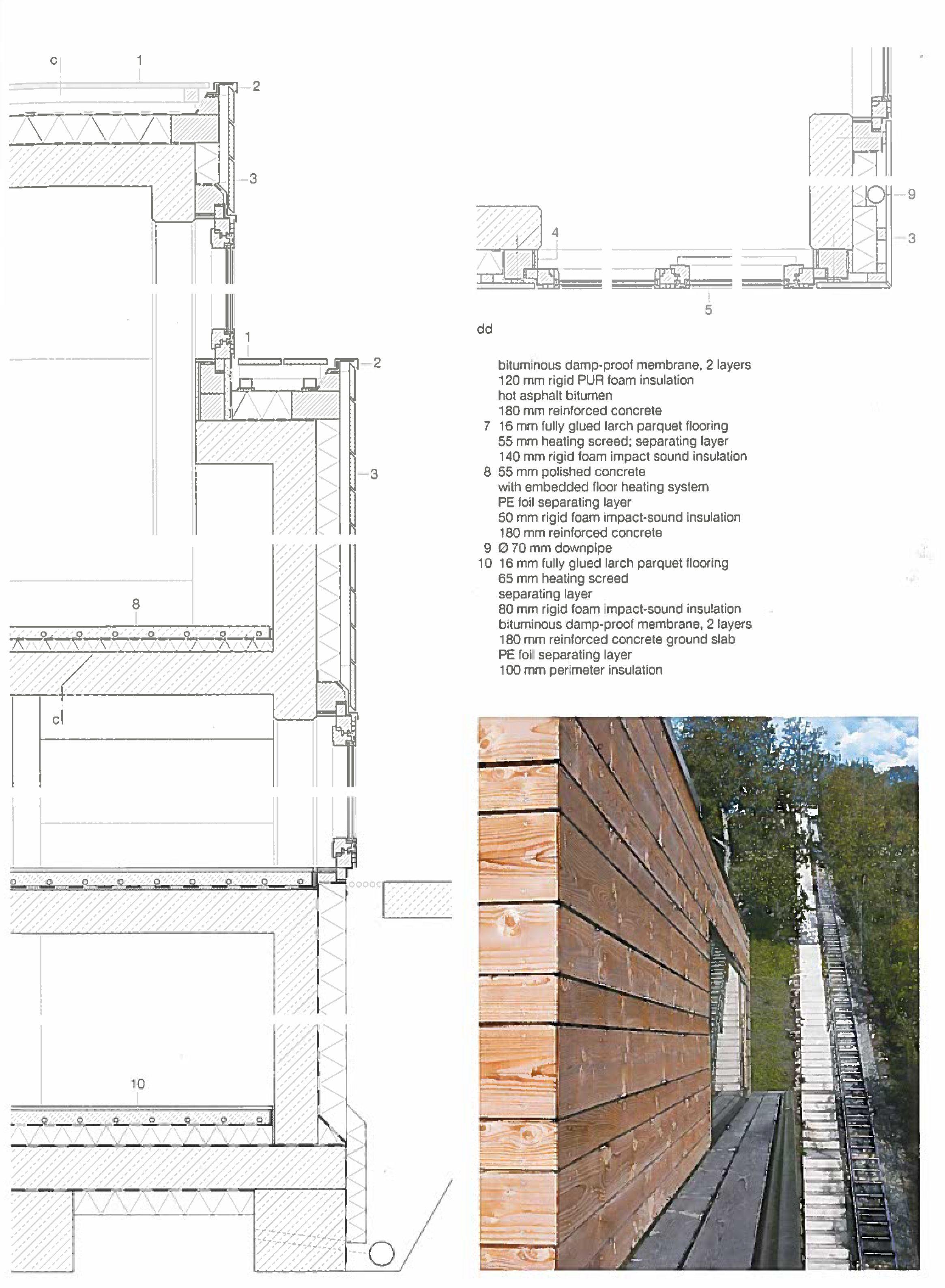 Holzfassade Detail lohman house in stuttgart detail book architektur technical