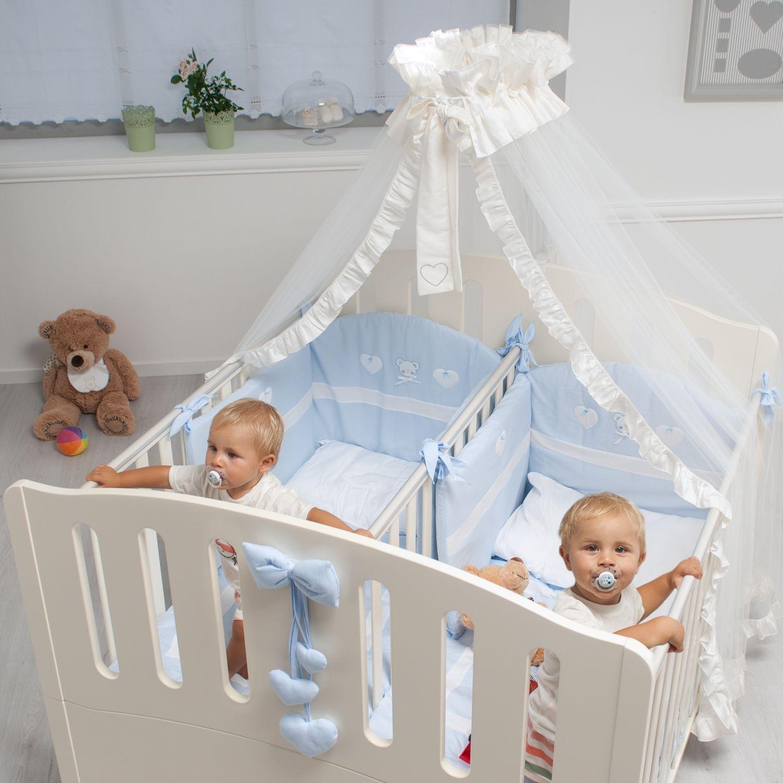 Stubenwagen zwillinge  Zwillingsbett Gemini in weiß mit 2 separaten Schlafplätzen ...
