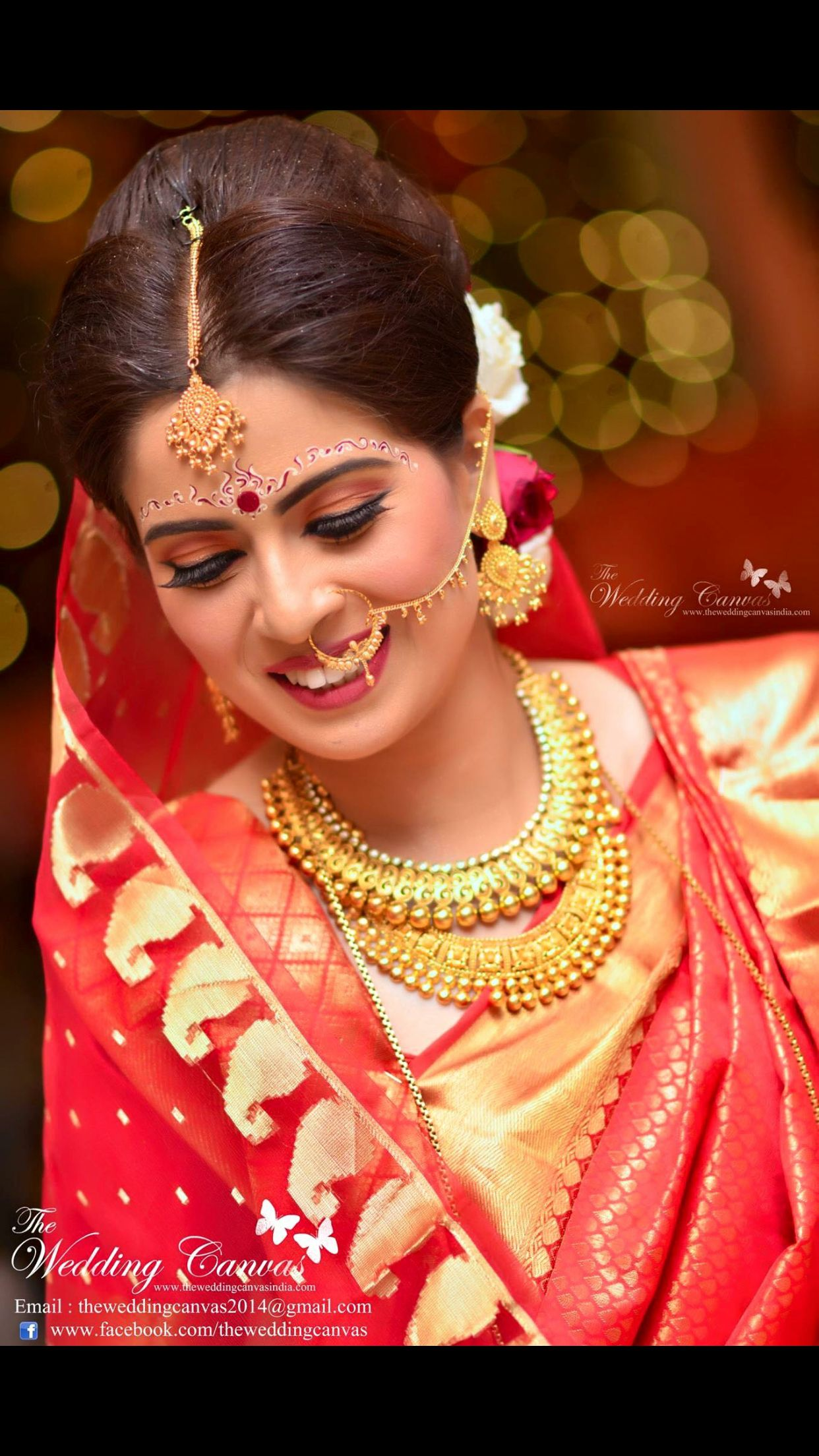 Bengali bridal gold jewellery - The Bride Story Swarup Make Up Artistry Pictures