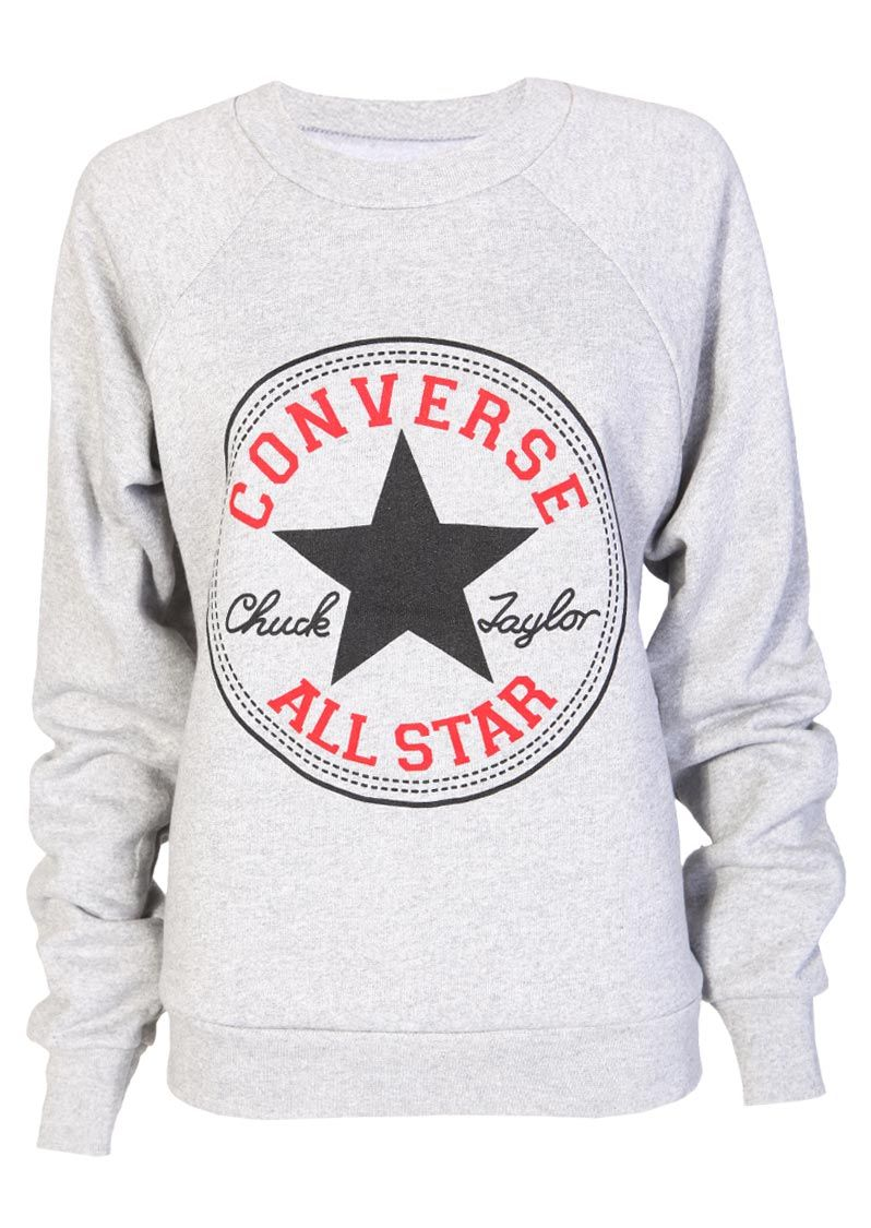 210b3a8e79df Converse Sweatshirt in Grey - Womens Clothing Sale