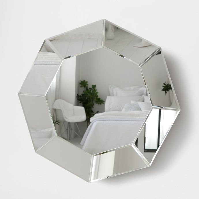 octagonal mirror mirrors decoration zara home. Black Bedroom Furniture Sets. Home Design Ideas