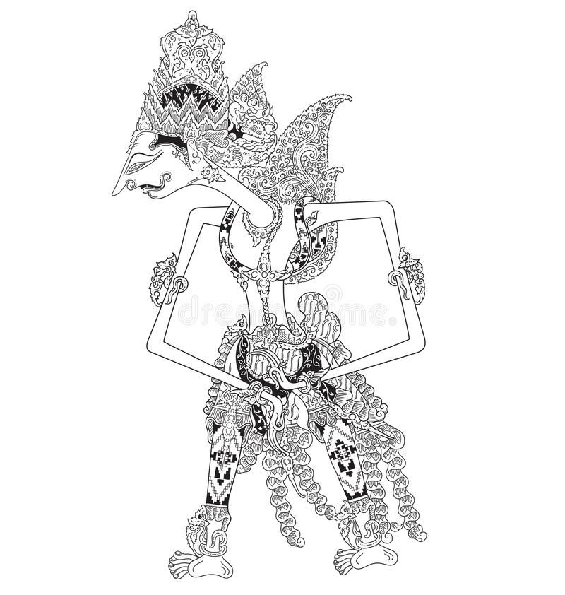 Watugunung A Character Of Traditional Puppet Show Wayang Kulit From Java Indonesia Royalty Free Illustration In 2021 Shadow Puppets Illustration Vector Art
