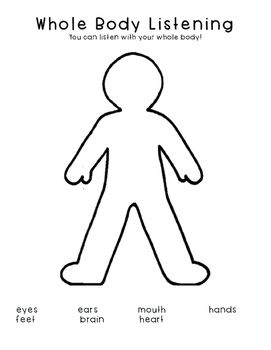 whole body listening class small group activity social skills