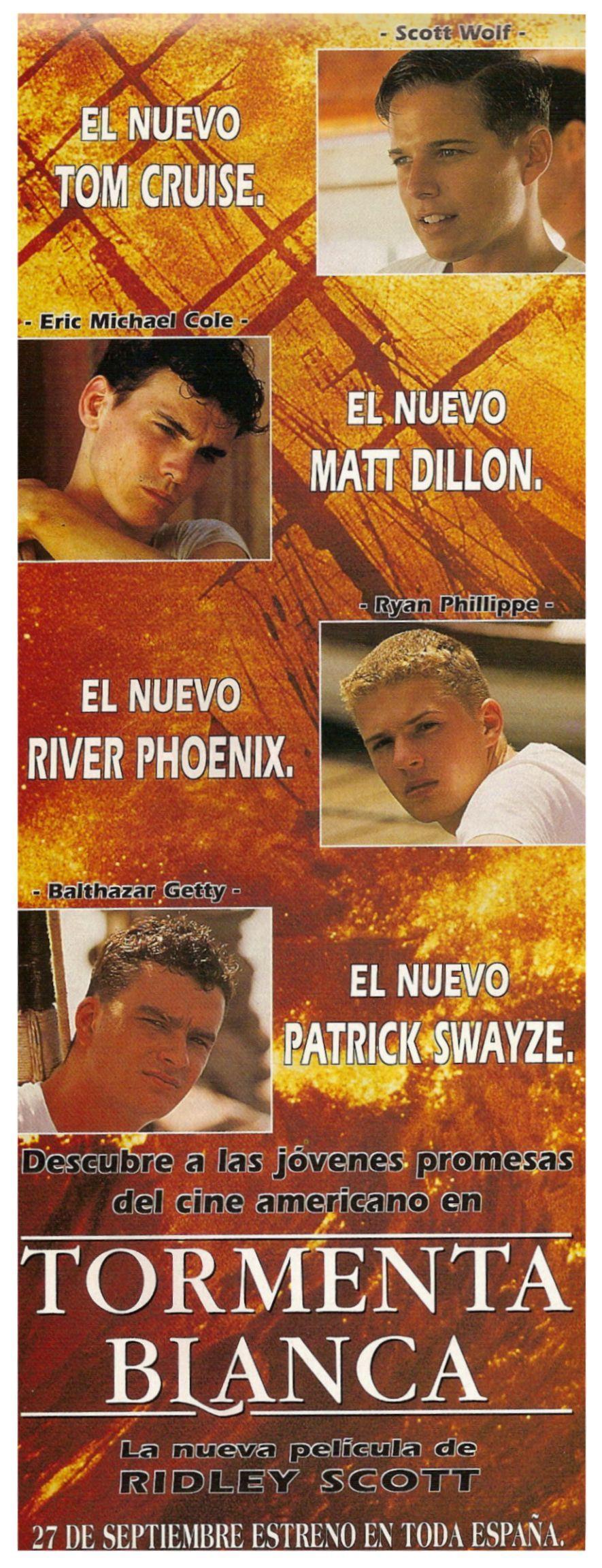 Tormenta Blanca 1996 White Squall De Ridley Scott Tt0118158 Tom Cruise Matt Dillon River Phoenix