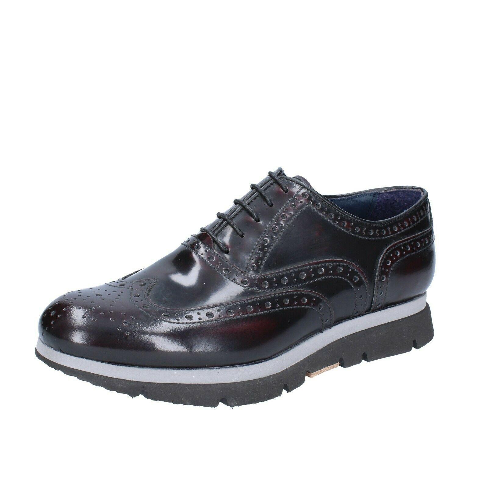 BREITLIN classiche bordeaux pelle lucida nero BS702 scarpe uomo J
