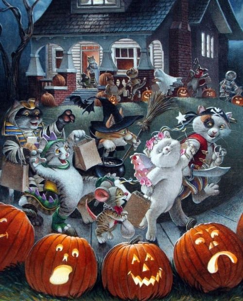 Pin by Jocelyne Gorse on Chats Pinterest - halloween backdrop