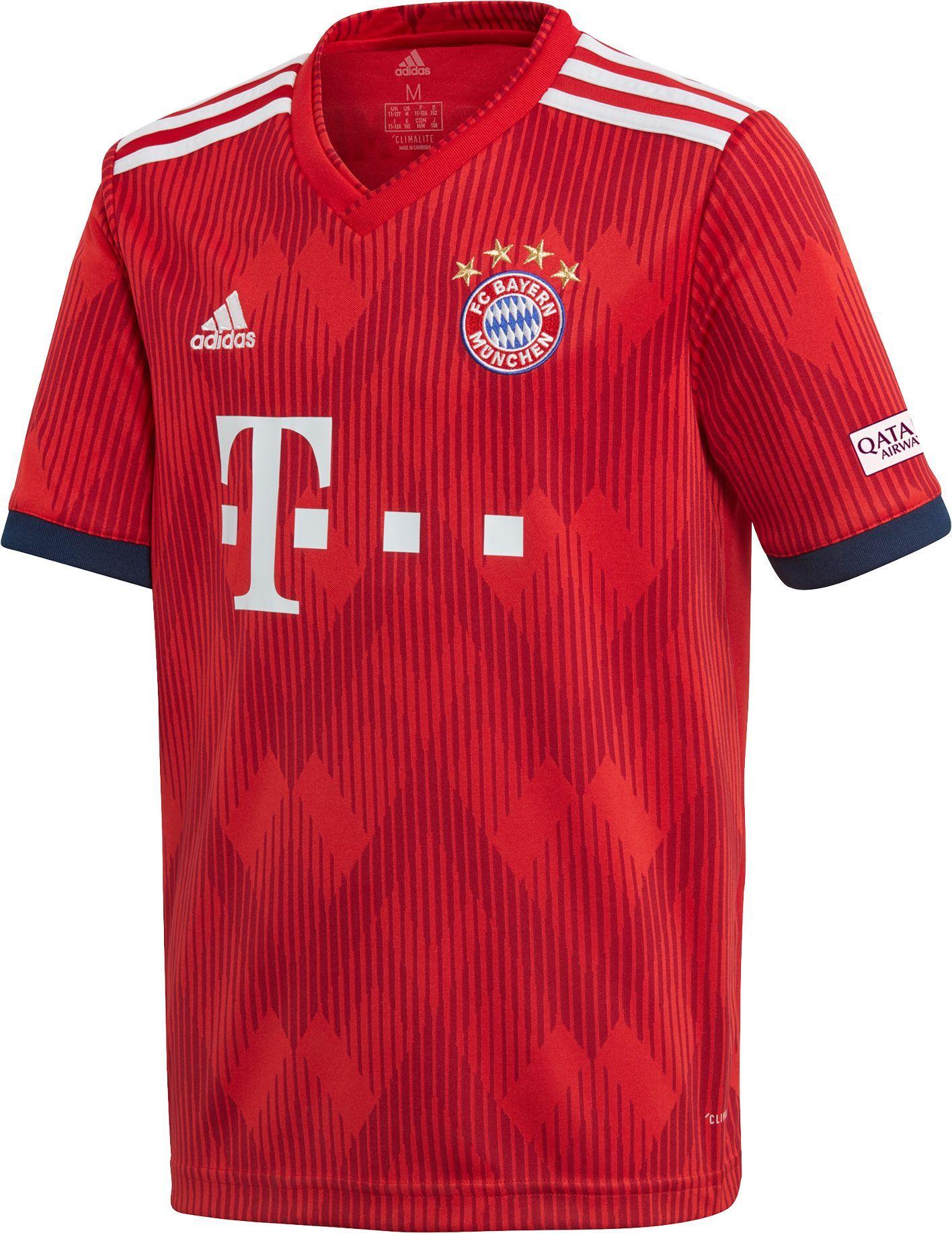 save off 56d58 f2999 adidas Youth Bayern Munich 2018 Stadium Home Replica Jersey ...