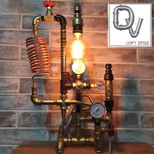 Lampara Escritorio Vintage Industrial Tipo Pipeman Bailarina 1 380 00 En Mercado Libre Lampara De Escritorio Lampara Steampunk Lampara