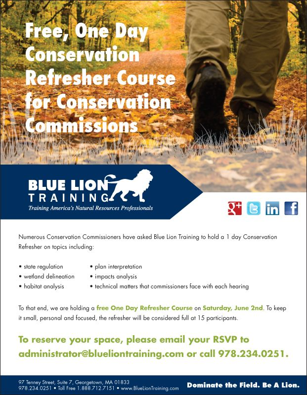 June 2: Free One Day Conservation Refresher Course for Conservation Professionals.