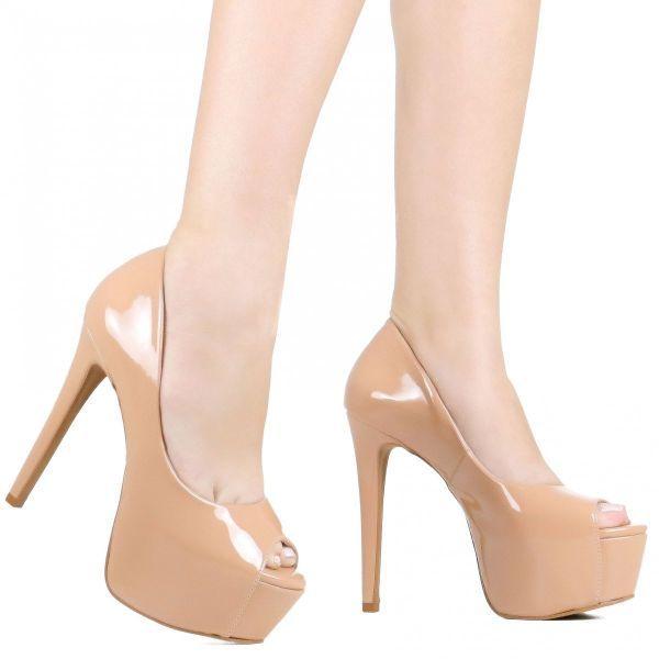 27c0bc4be Sapato Zariff Peep Toe Salto Alto Meia Pata - - -Caracteristicas: -  Referencia:
