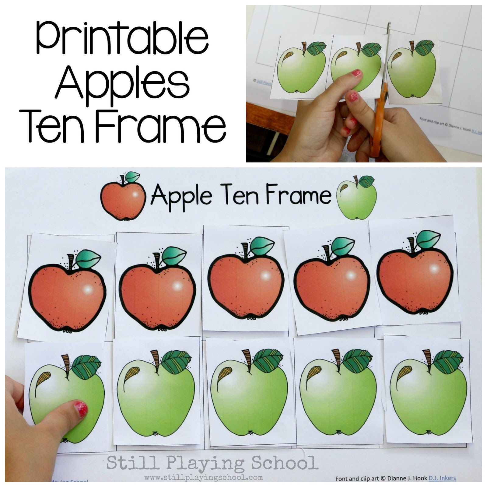 Fall is the perfect time of year for an apple theme! We're offering this free printable hands on math activity for kids to learn about ten...
