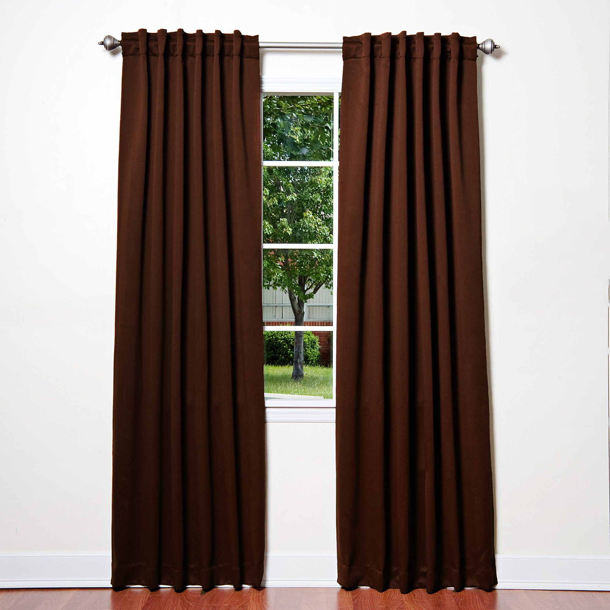 """Amazon.com - Best Home Fashion Thermal Insulated Blackout Curtains - Back Tab/ Rod Pocket - Olive - 52""""W x 84""""L - (Set of 2 Panels) - Window Treatment Curtains"""