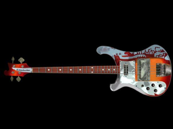 Paul McCartneys Rickenbacker Bass As Seen In Magical Mystery Tour Modeled By Mark Scott
