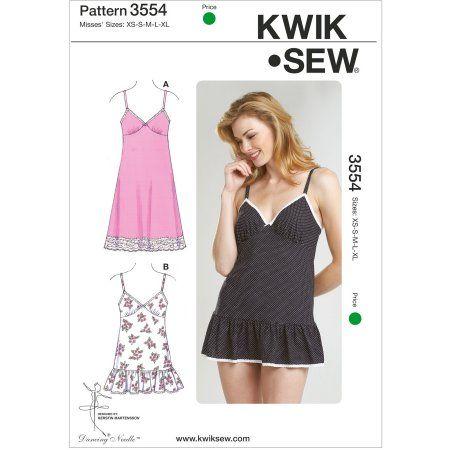 Kwik Sew Pattern Slips and Panties, (XS, S, M, L, XL)