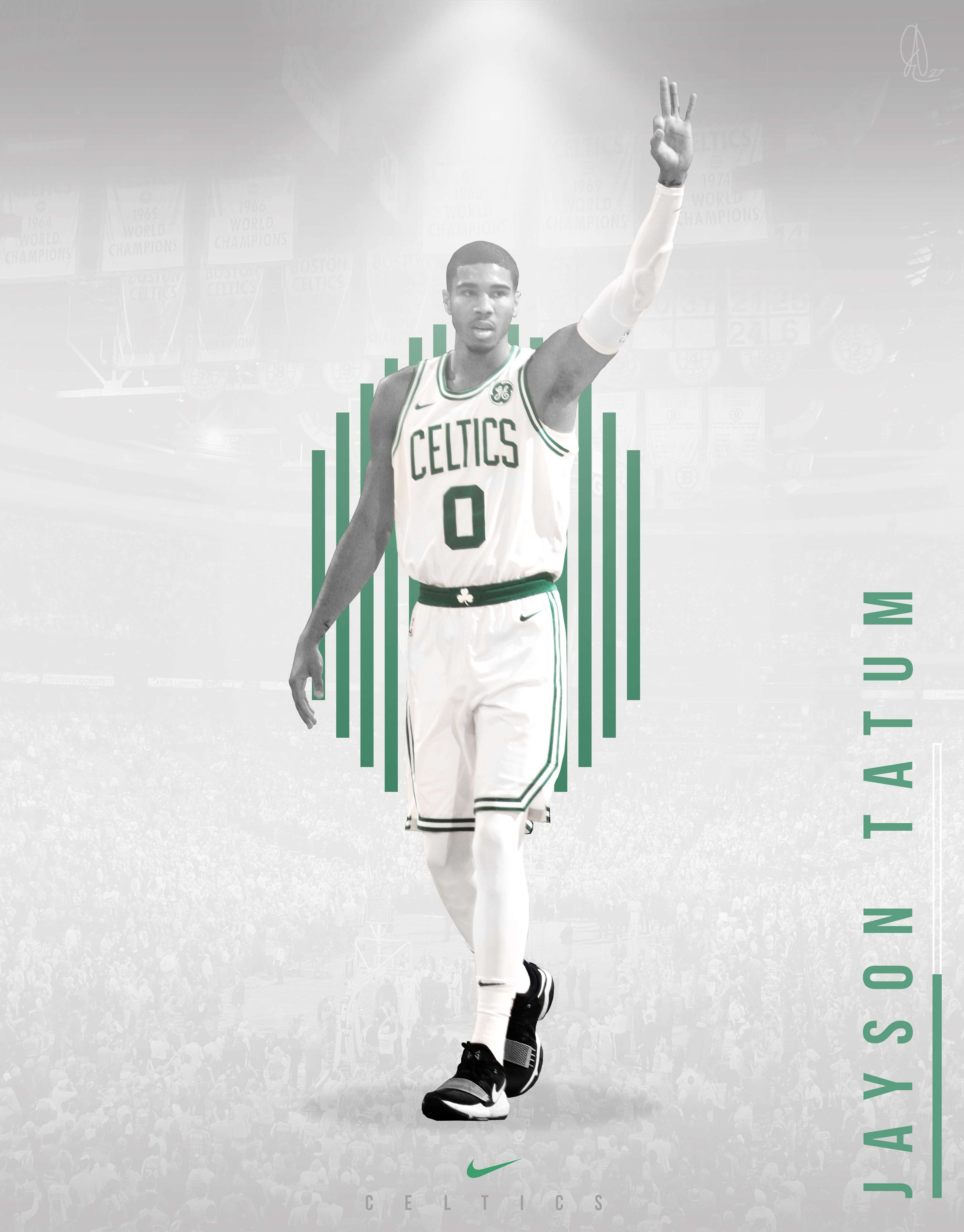 Jayson Tatum Sf 0 Boston Celtics If You Appreciate My Work Feel Free To Follow Me On Any Of Boston Celtics Wallpaper Basketball Background Jayson Tatum