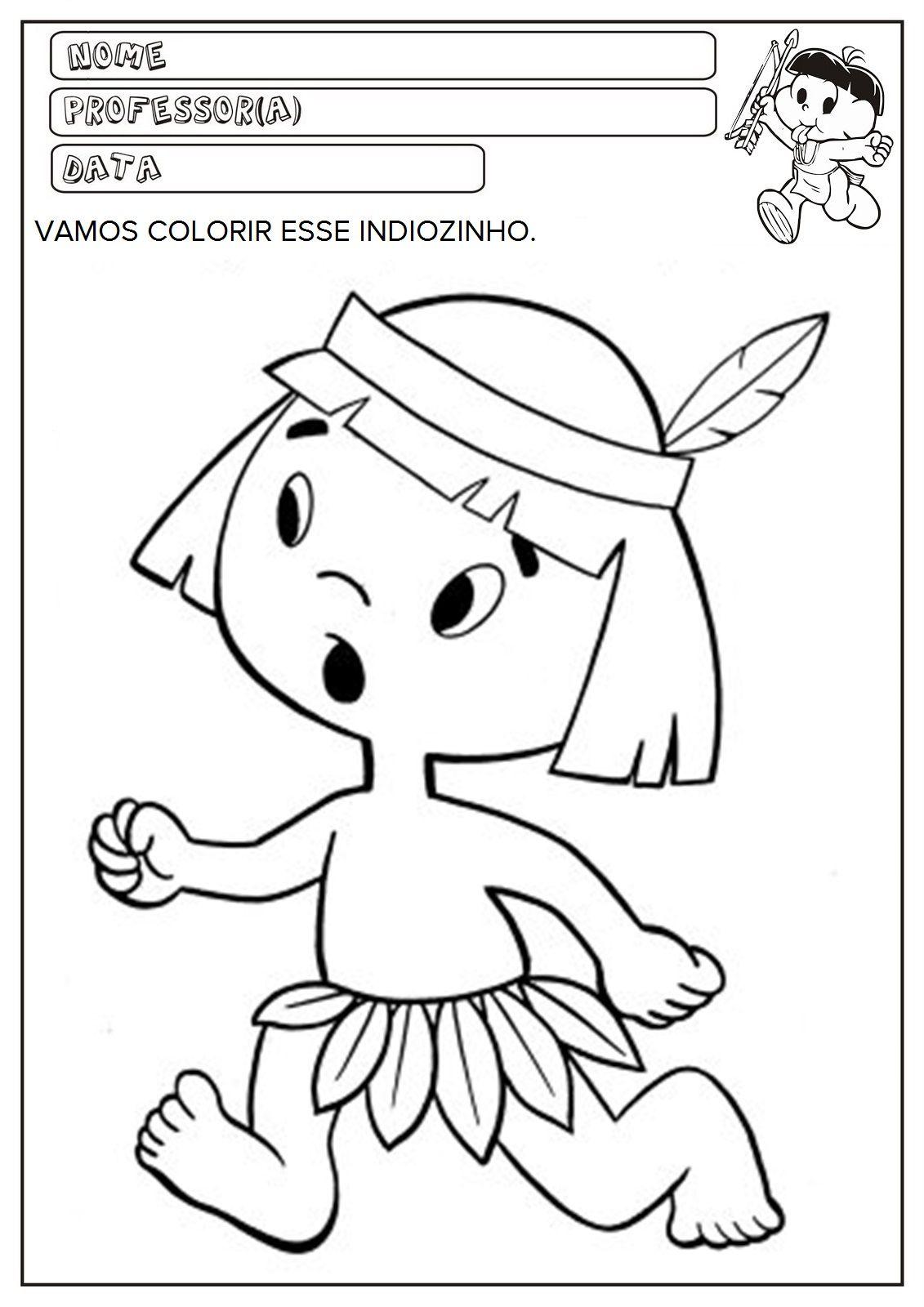 Dia Do Indio Atividades Pascoa Educacao Infantil Atividade Dia