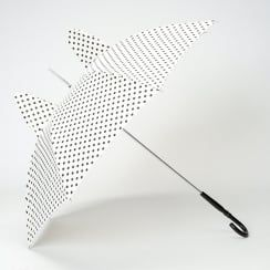 'Ears' Cream Polka Dot Umbrella with Ears