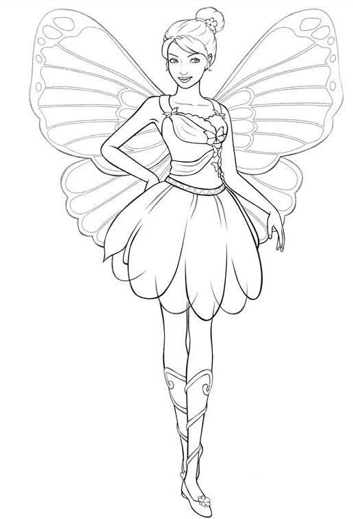 Girls Coloring Pages Barbie Fairy