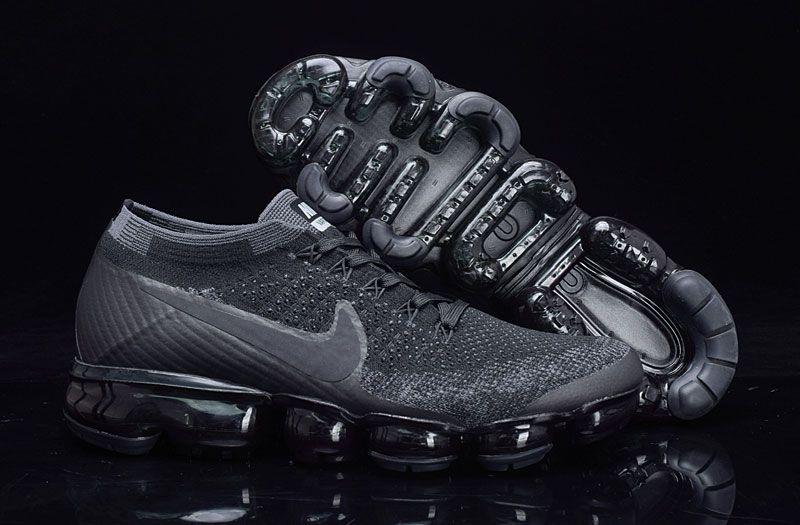 7a554adb2d9 Women s Men s UK Nike Air Vapormax Flyknit 2018 Running Shoes Black  Trainers UK Sale