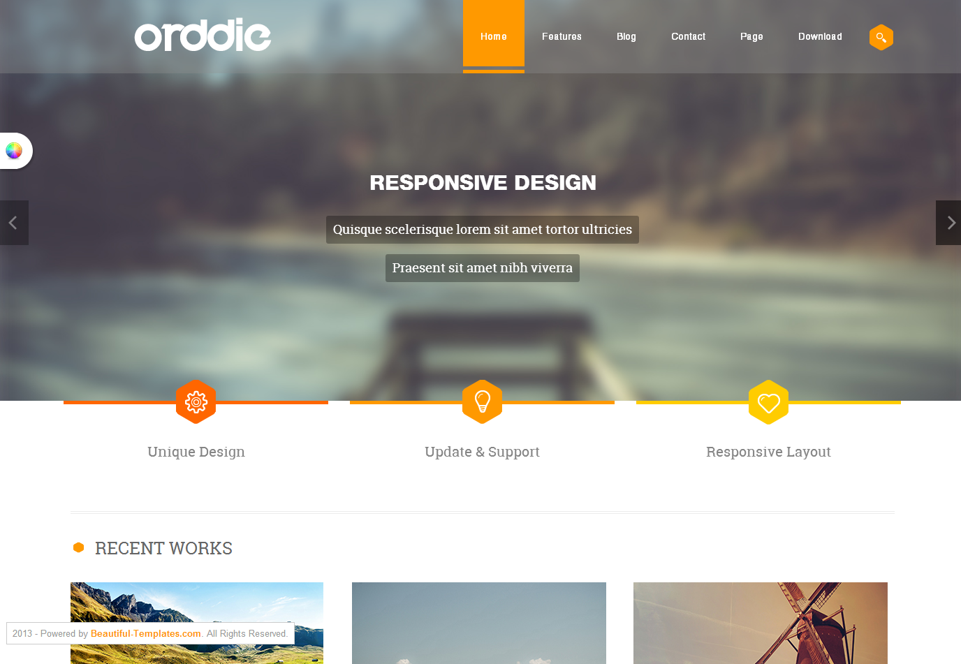 It is one of the best light and feature rich responsive portfolio ...