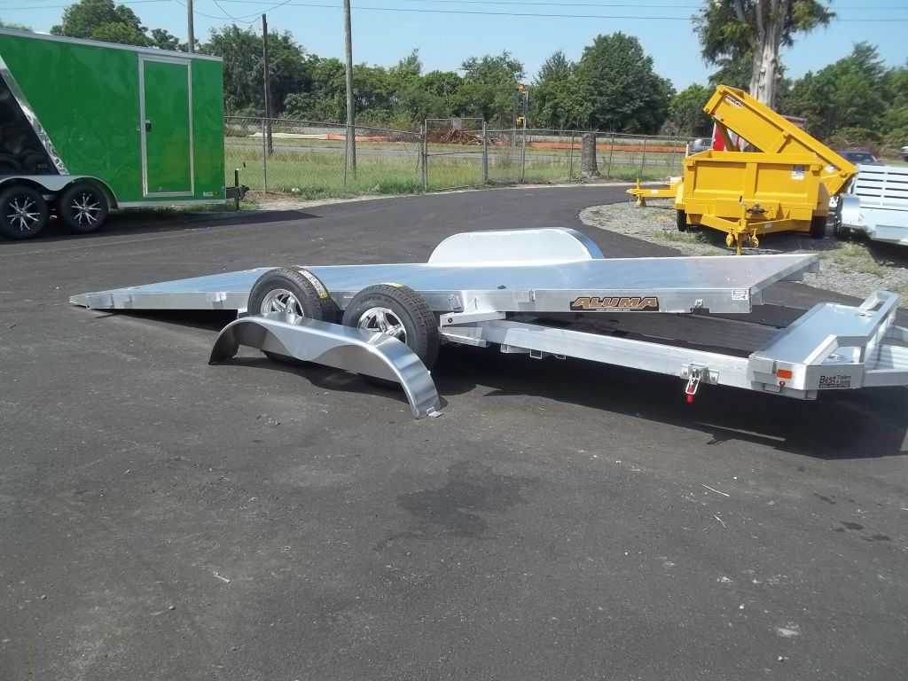 aluma 8218 tilt carhauler with removable fenders all