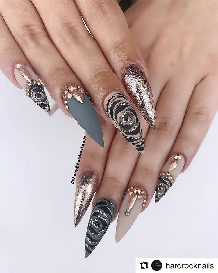 Nail Art Distributor V Instagram We Feeling The Love From Eastern Canada Thank You For The Tag Bling Nails Stiletto Nails Designs Stiletto Nail Art