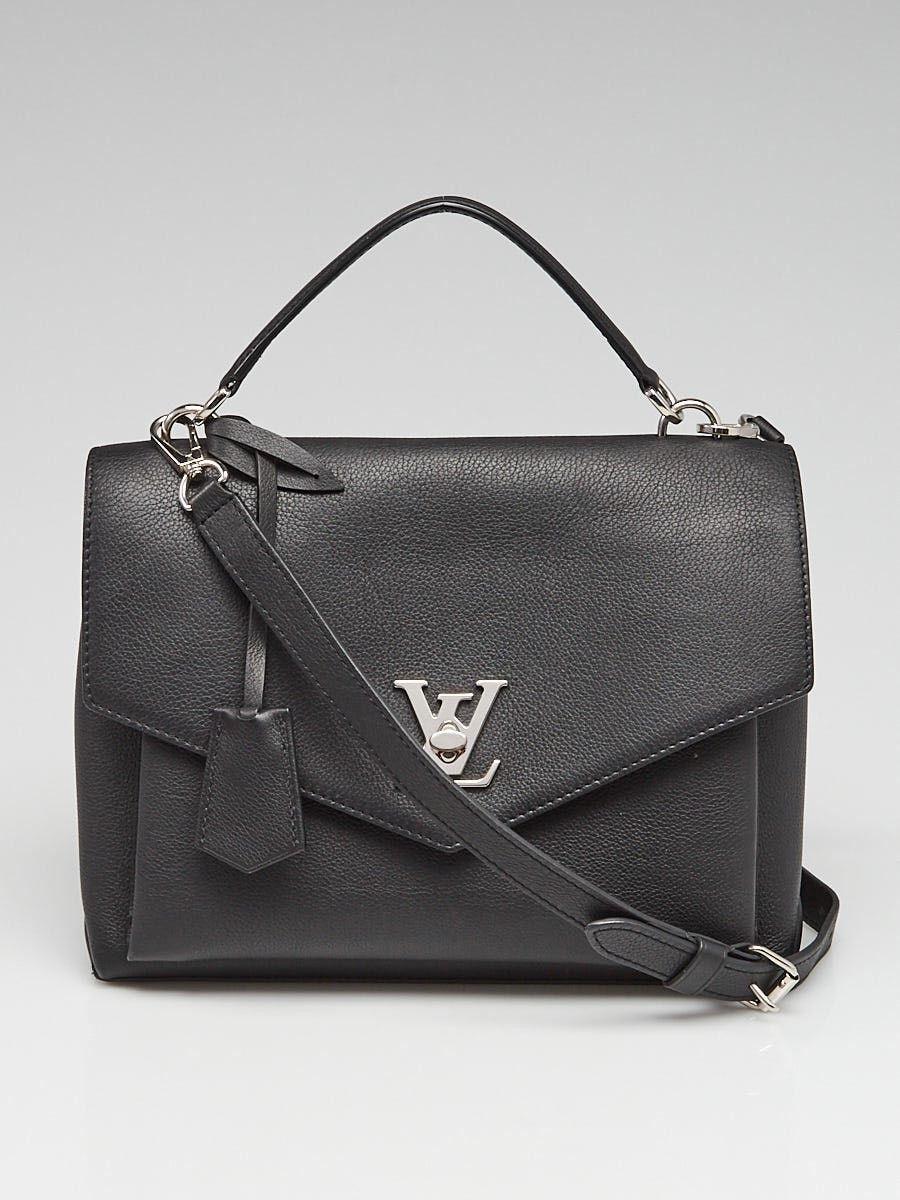 6b6c399cb30eca Louis Vuitton Black Pebbled Leather Mylockme Bag   Handbag Wishlist ...