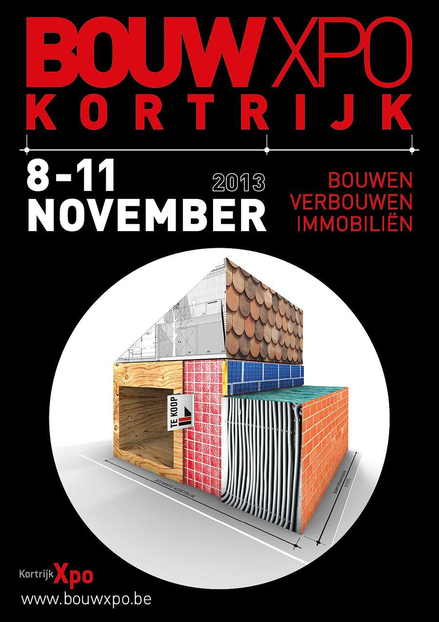 Visual identity for Bouwxpo Kortrijk 2013.