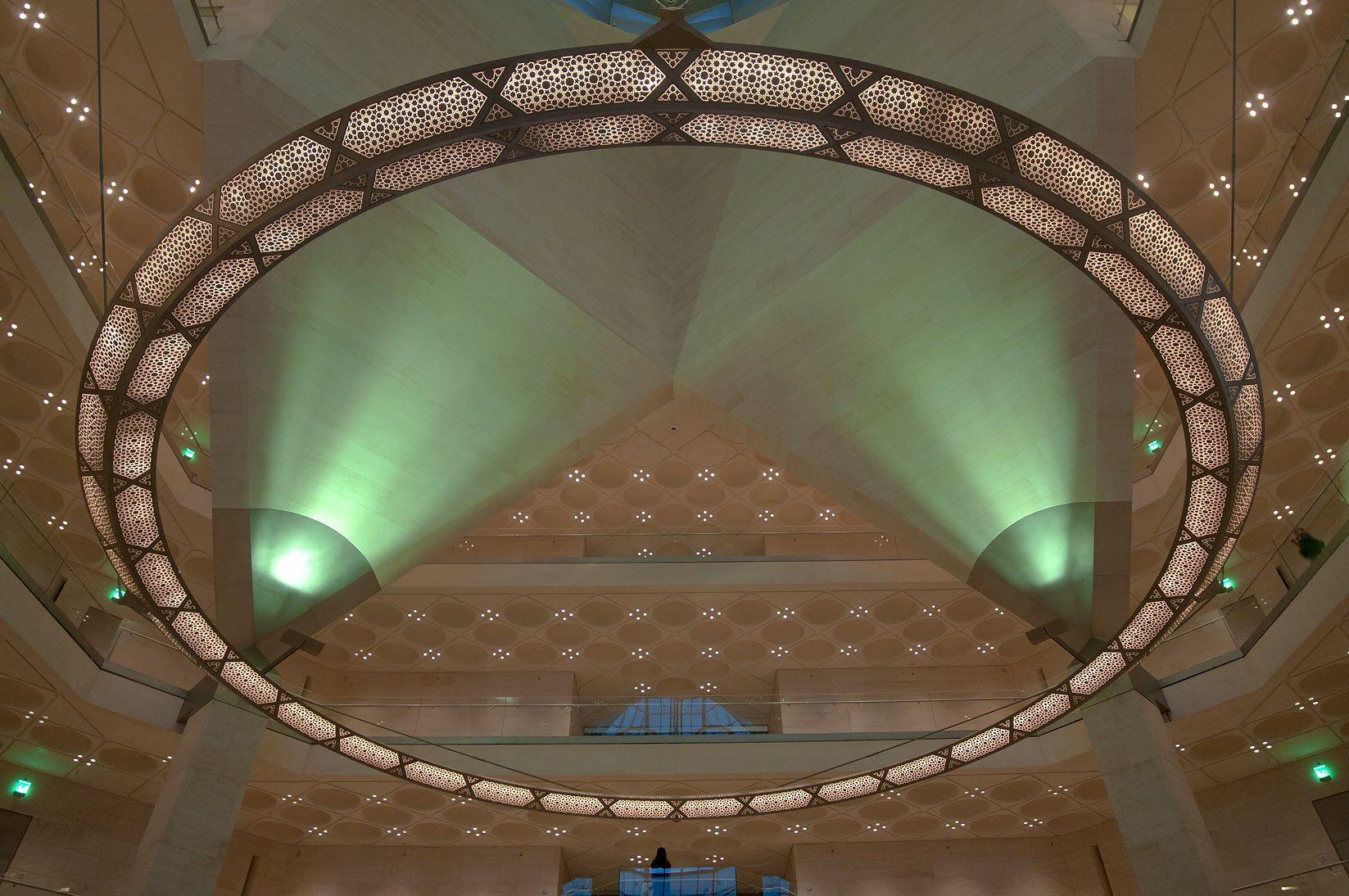 Museum of islamic art doha qatar custom light fixture i m pei