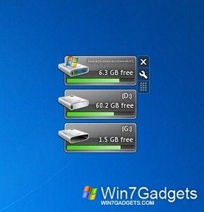 Drive Manager Win 7 Gadget Met Afbeeldingen