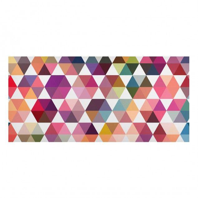 Magnettafel - Hexagon Facetten - Memoboard Quer 37cm x 78cm #Magnettafel #Memoboard #Pinnwand #Muster