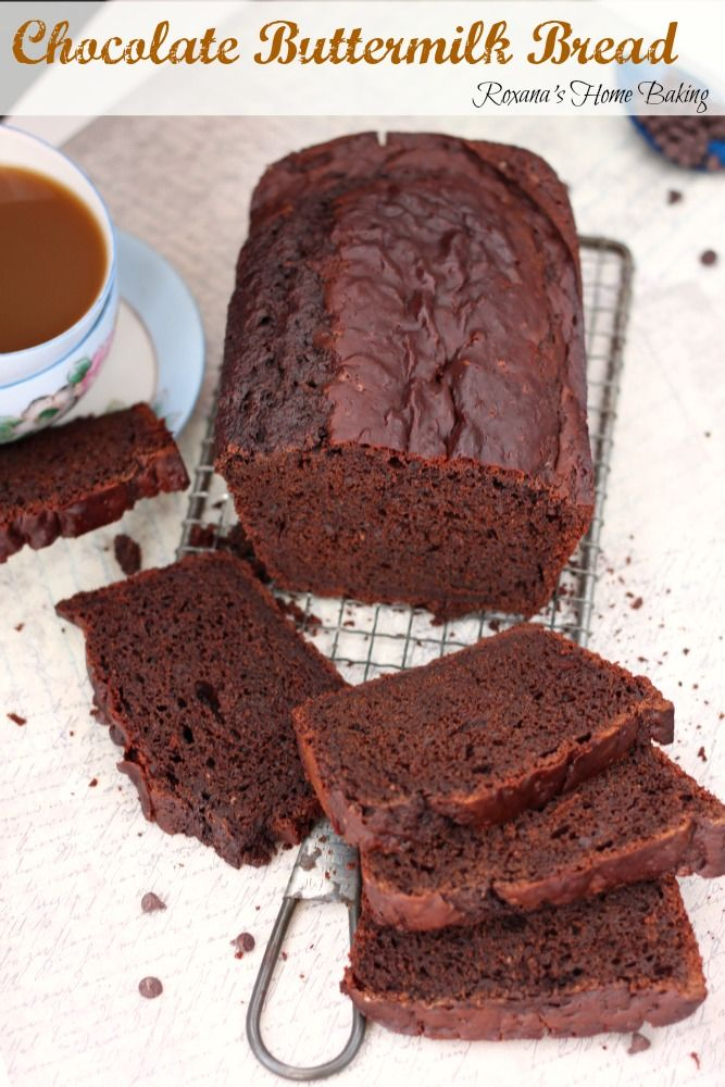 Chocolate Buttermilk Bread Recipe Recipe Desserts Buttermilk Bread Dessert Bread