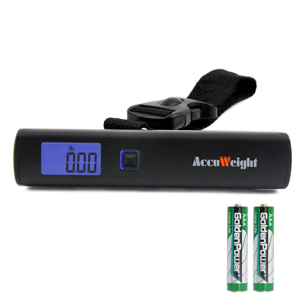 Accuweight 110lb50kg portable digital luggage scale