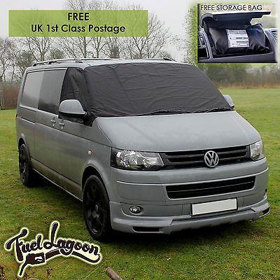 Vw T5 Window Screen Cover Curtain Wrap Black Out Blind Camping New Handle Ties Ebay Vw Transporter Van Vw Transporter Van