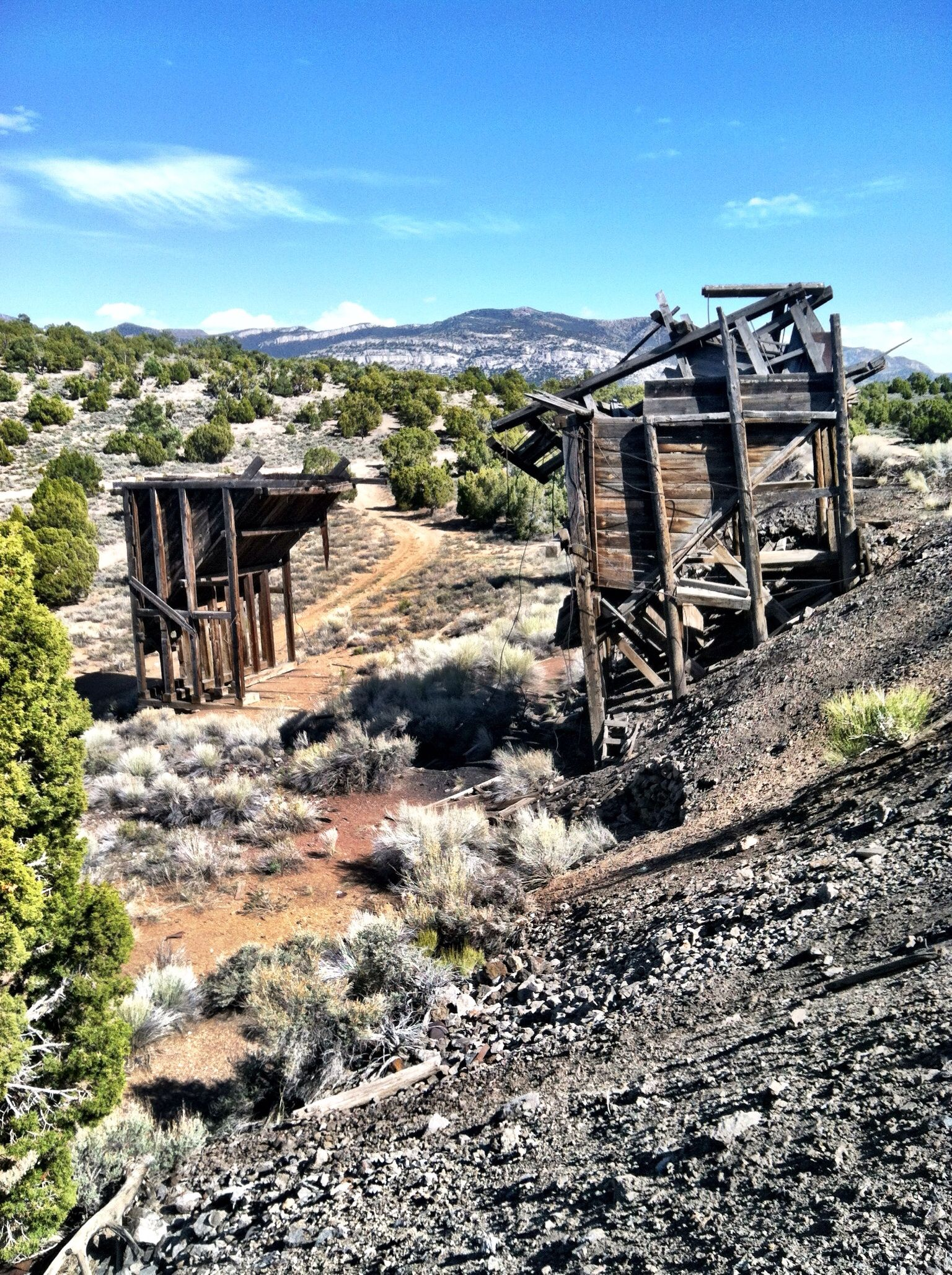 Ghost Town In Mountains Ely Nevada. Adventures