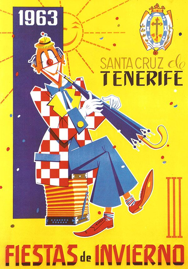 Cartel Carnaval Santa Cruz de Tenerife Año 1963