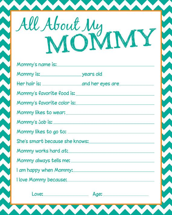 mommy questionnaire great to have the kids fill out before mothers day frame it great for. Black Bedroom Furniture Sets. Home Design Ideas