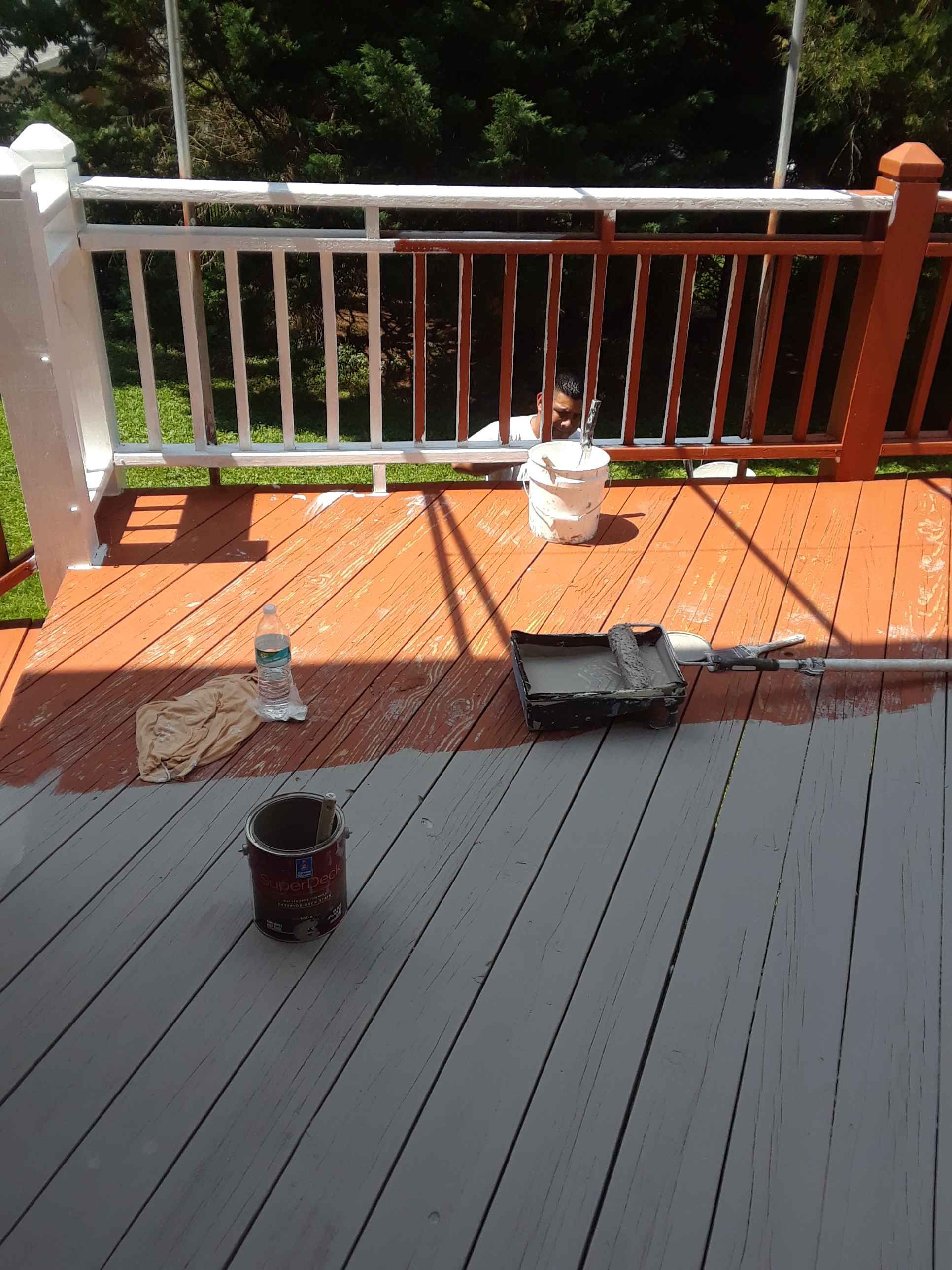 Commercial And House Painting Portoflio Baltimore Md Deck Colors Decks Backyard Smoke Tree