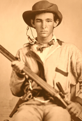 Unidentified Confederate Soldier with a Shotgun, ca. 1861-1865