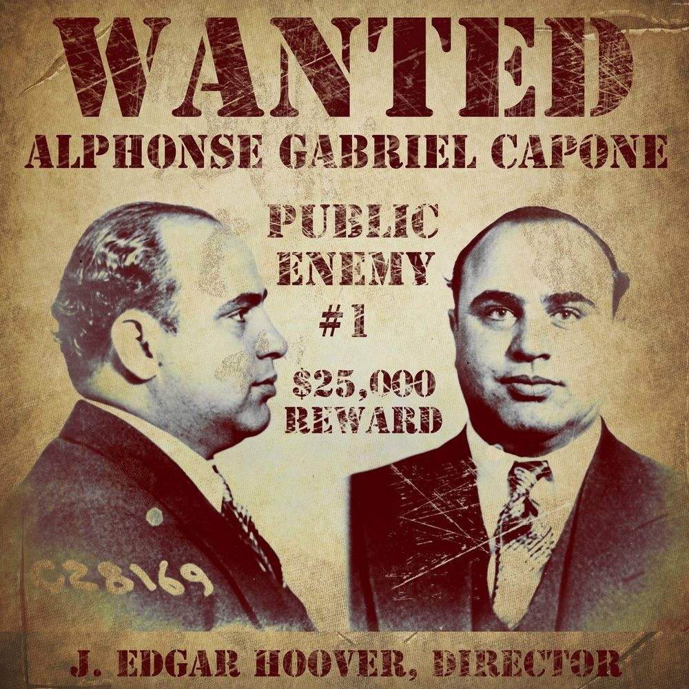 Al Capone Wanted Poster Wall Art Canvas Prints Framed Prints Wall Peels In 2020 Al Capone Poster Vintage Apple