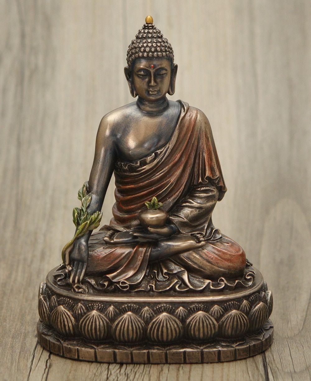 Cold cast bronze medicine buddha statue 6 inches buddha cold cast bronze medicine buddha statue 6 inches buycottarizona
