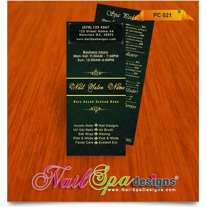 Price List Template For Nail Salon Visit WwwNailspadesignsCom