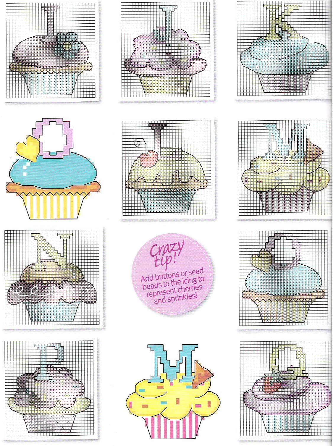 cupcake alphabet | Cross Stitch | Pinterest | Stickbilder ...