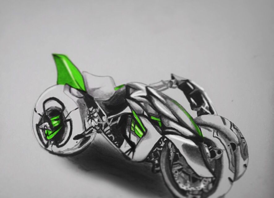 Found a motorcycle I really liked on google images and I wanted to draw it XD